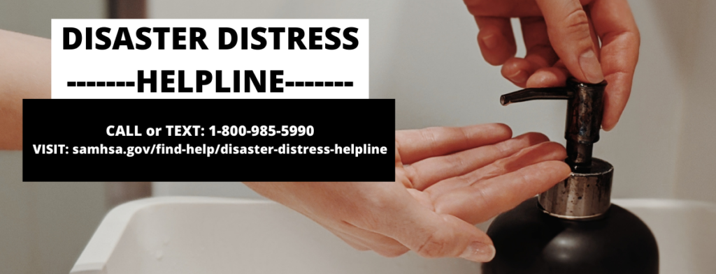 Disaster Distress Helpline Banner